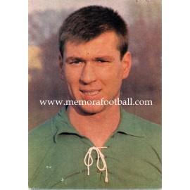 Josef Piontek (Werder Bremen) 1960s postcard