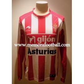 """""""BOTÍA"""" nº2 2009-2010 Sporting de Gijón v FC Barcelona match worn shirt"""