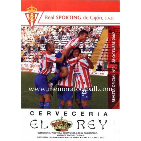 Official magazine of the Sporting de Gijon 2007-08 completed