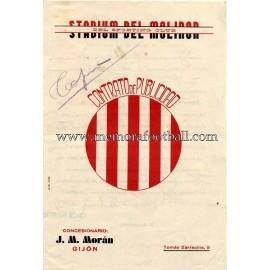 Contrato de Publicidad del Sporting de Gijón, 1934