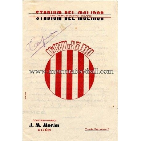 Sporting de Gijón, 1934 publicity contract