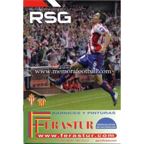 Official magazine of the Sporting de Gijon 2010-11 completed