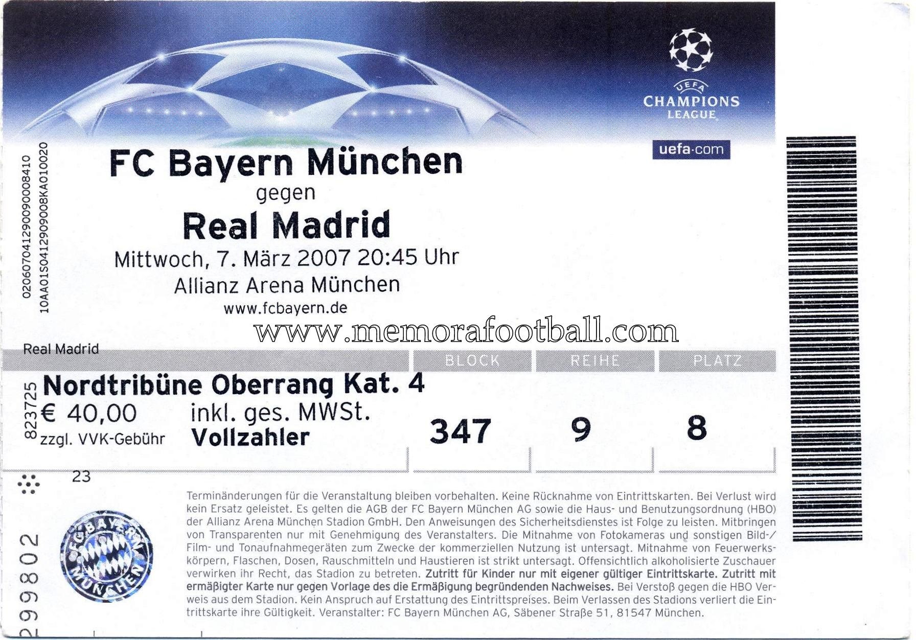 real madrid vs bayern tickets