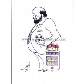 Caricatura de Eugenio Prieto Álvarez,Expresidente del Real Oviedo (1988-2002)
