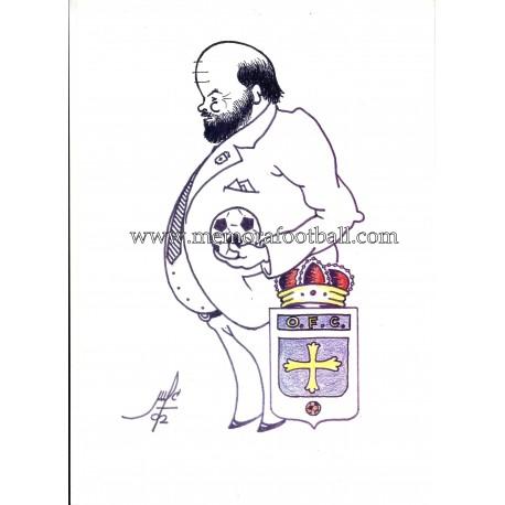 Eugenio Prieto Álvarez, Real Oviedo Ex-president caricature (1988-2002)