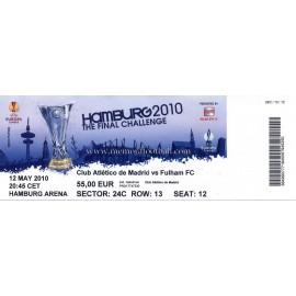 Entrada Atlético de Madrid vs Fulham - 2010 UEFA Europa League Final