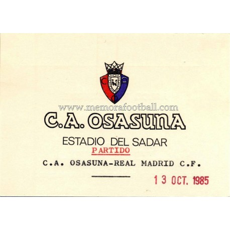 Osasuna vs Real Madrid 13-10-1985 Spanish League