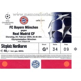 Bayern Munchen vs Real Madrid 24-02-2004 ticket