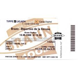 Brann v Deportivo de la Coruña 18-09-2008 UEFA Cup ticket