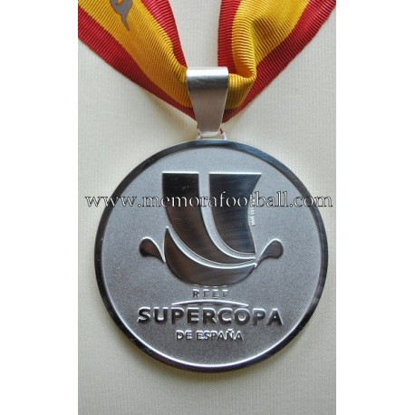 Real Madrid CF Spanish Supercup 2013-14 Runner-up medal