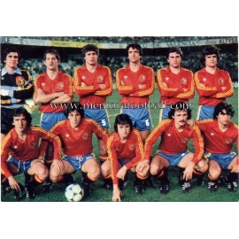 Spain National Team 1982 postcard