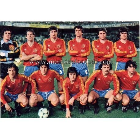 Spain National Team 1982 postcard