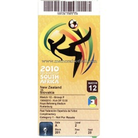 New Zeeland vs Slovakia - 2010 FIFA World Cup ticket