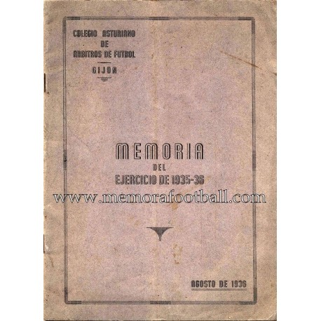 Colegio Asturiano de árbitros 1935-36 Official Report
