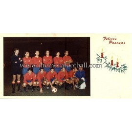 "1970´s ""Spain National Team"" Christmas Card"