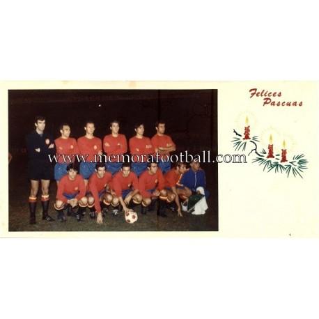 """1970´s """"Spain National Team"""" Christmas Card"""