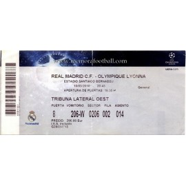 Real Madrid v Olympique Lyonnais 2009-10 Champions League