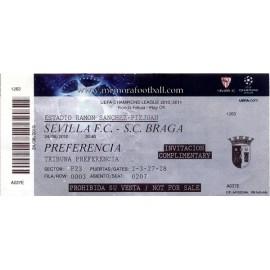 Sevilla FC v SC Braga 2010-11 Champions League
