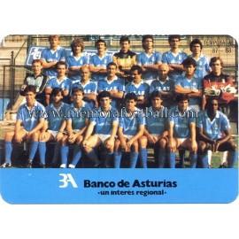 Himno del Real Oviedo con foto de la plantilla 1987-88