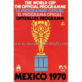 1970 FIFA World Cup Mexico Official Programme