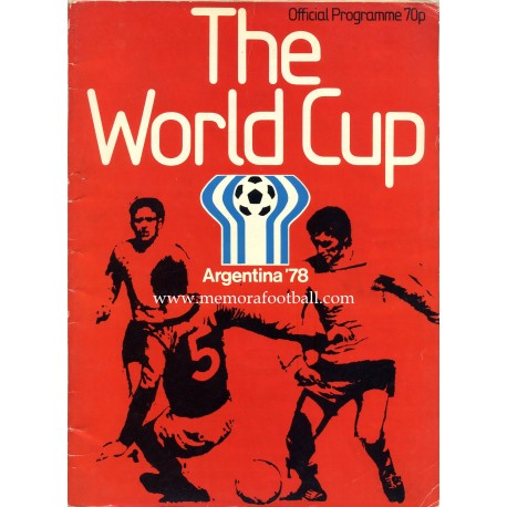 1978 FIFA World Cup Official Programme UK EDITION