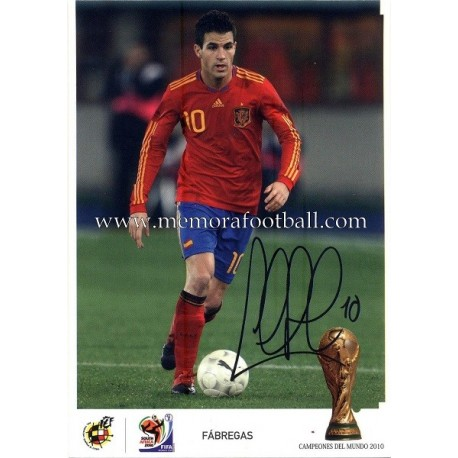"""FABREGAS"" FIFA World Champion 2010"