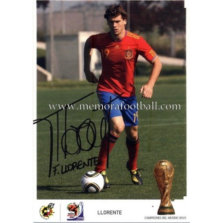 """LLORENTE"" FIFA World Champion 2010"