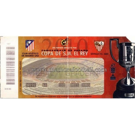 Spanish FA Cup 2010 Final Atlético de Madrid vs Sevilla