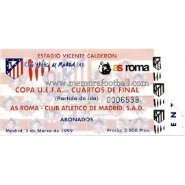 Atlético de Madrid vs AS Roma UEFA 02/03/1999