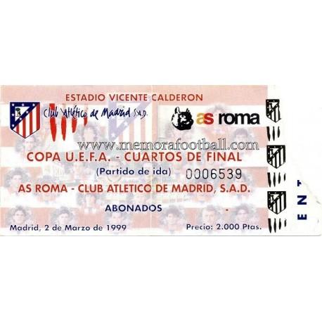Atlético de Madrid vs AS Roma UEFA 02/03/1999