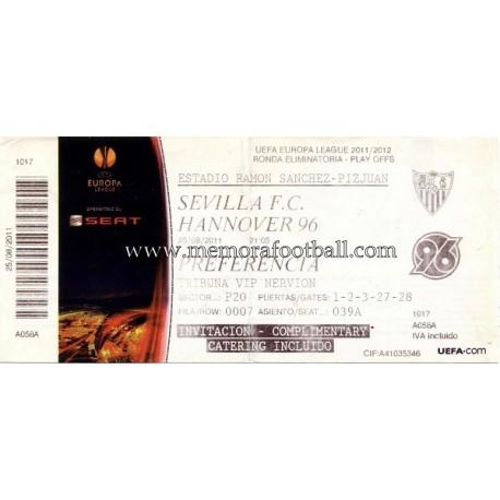 Sevilla vs Hannover 96 UEFA 25/08/2011