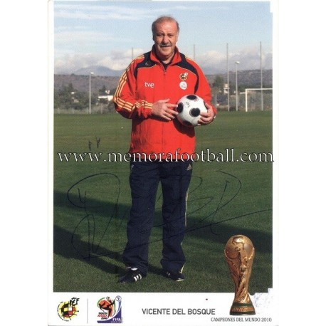 """VICENTE DEL BOSQUE"" FIFA World Champion 2010"