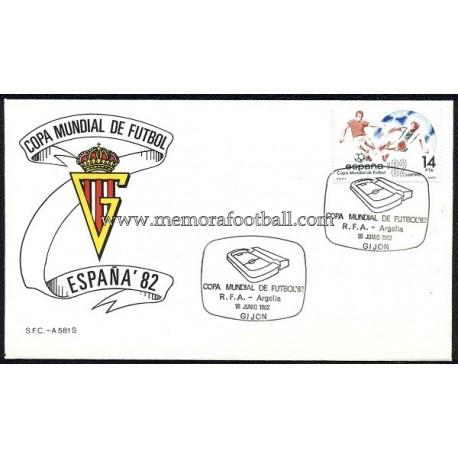 Sporting de Gijón, FIFA World Cup 1982 Germany vs Argelia envelope