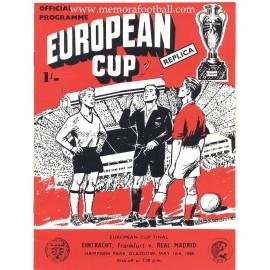 Eintracht Frankfurt v Real Madrid - European Cup Final 18/05/1960 Official Programme Replica