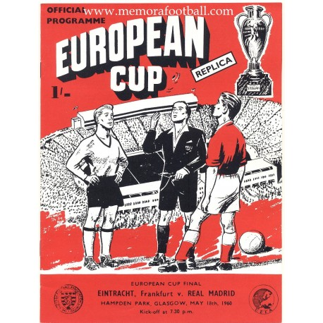 Eintracht Frankfurt v Real Madrid - European Cup Final 18/05/1960 Official Programme Replica