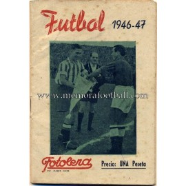 Spanish Football League 1946-47 leaflet