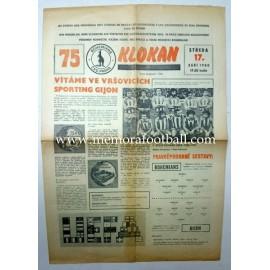 Programa Bohemians CKD Praha v Sporting de Gijón 17.09.1980 Copa de la UEFA