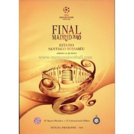 UEFA Champions League Final 2010 Official Programme