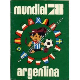 Calendario FIFA World Cup Argentina 1978