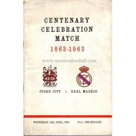 Stoke City v Real Madrid Centenary Celebration Match 24-04-1963 programme