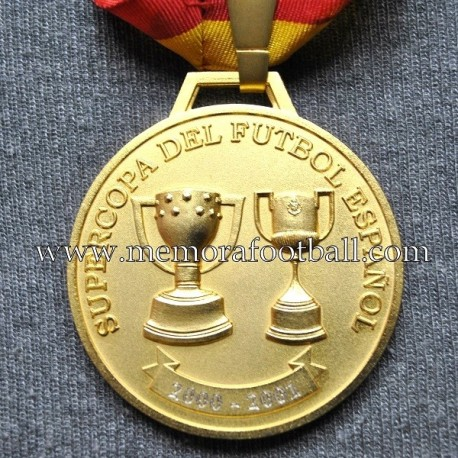 Real Madrid CF Spanish Supercup 2000-01 Winner medal