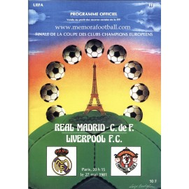 UEFA European Cup Final 1981 Official Programme