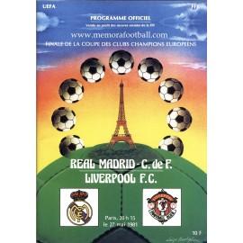 UEFA Champions League Final 1981 Official Programme