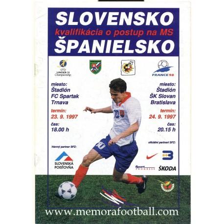 Slovakia v Spain FIFA World Cup 1998