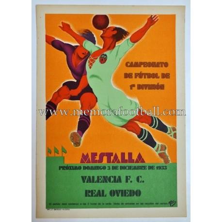 Valencia FC vs Real Oviedo, 1933