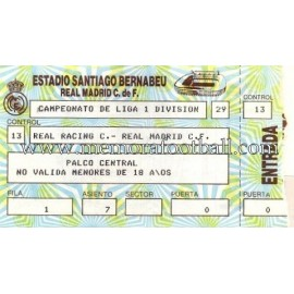 Real Madrid vs Real Racing Club Santander 08-02-1987