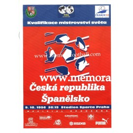 Czech Republic v Spain 09-10-1996 programme
