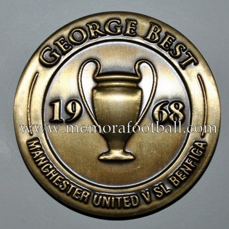 """GEORGE BEST"" 1968 Commemorative medal"