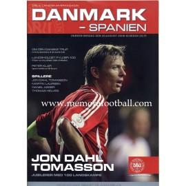 Denmark v Spain 20-08-2008 Friendly Match programme