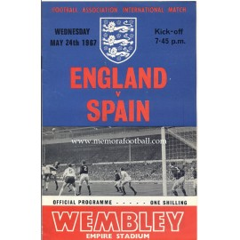 England v Spain 24-05-1967 Friendly match programme